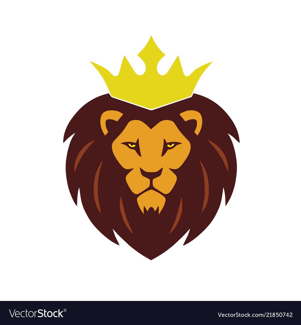 Lion King Crown Logo Vector Image