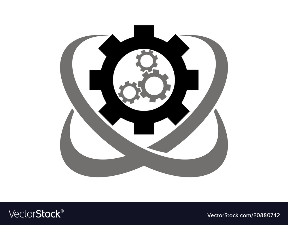Speed gear logo design template vector image on VectorStock