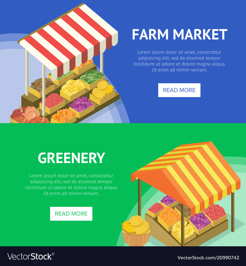 sc 1 st  VectorStock & Street farm market food stand with canopy Vector Image