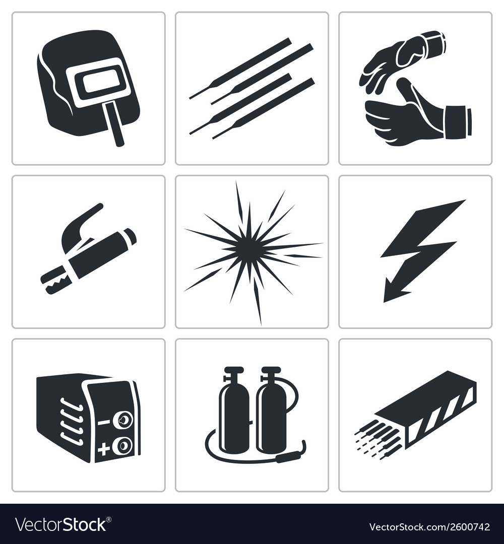 welding icon collection royalty free vector image