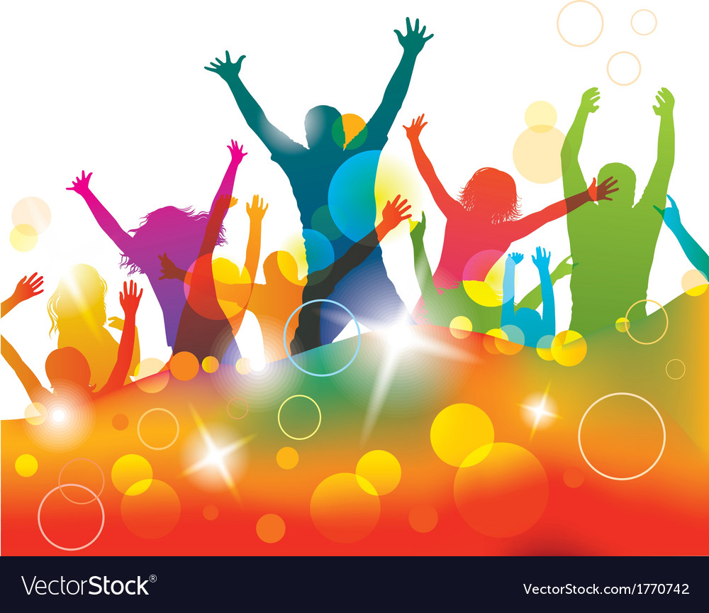 young people on the party royalty free vector image rh vectorstock com party victory and government party vector design