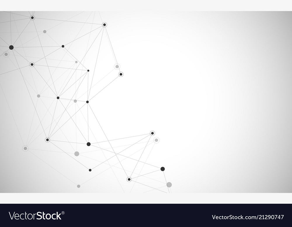Abstract connecting dots and lines connection