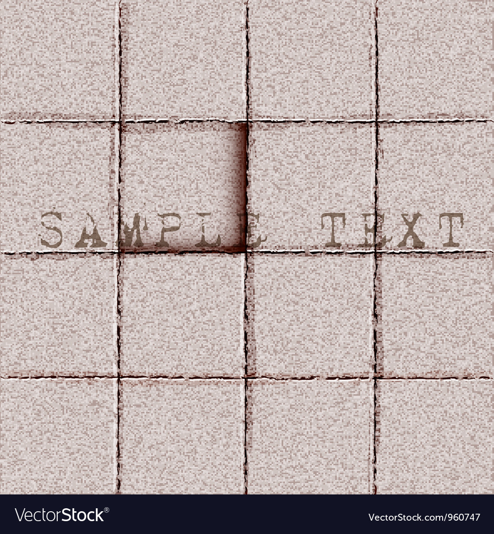 Background of tiles ground vector image