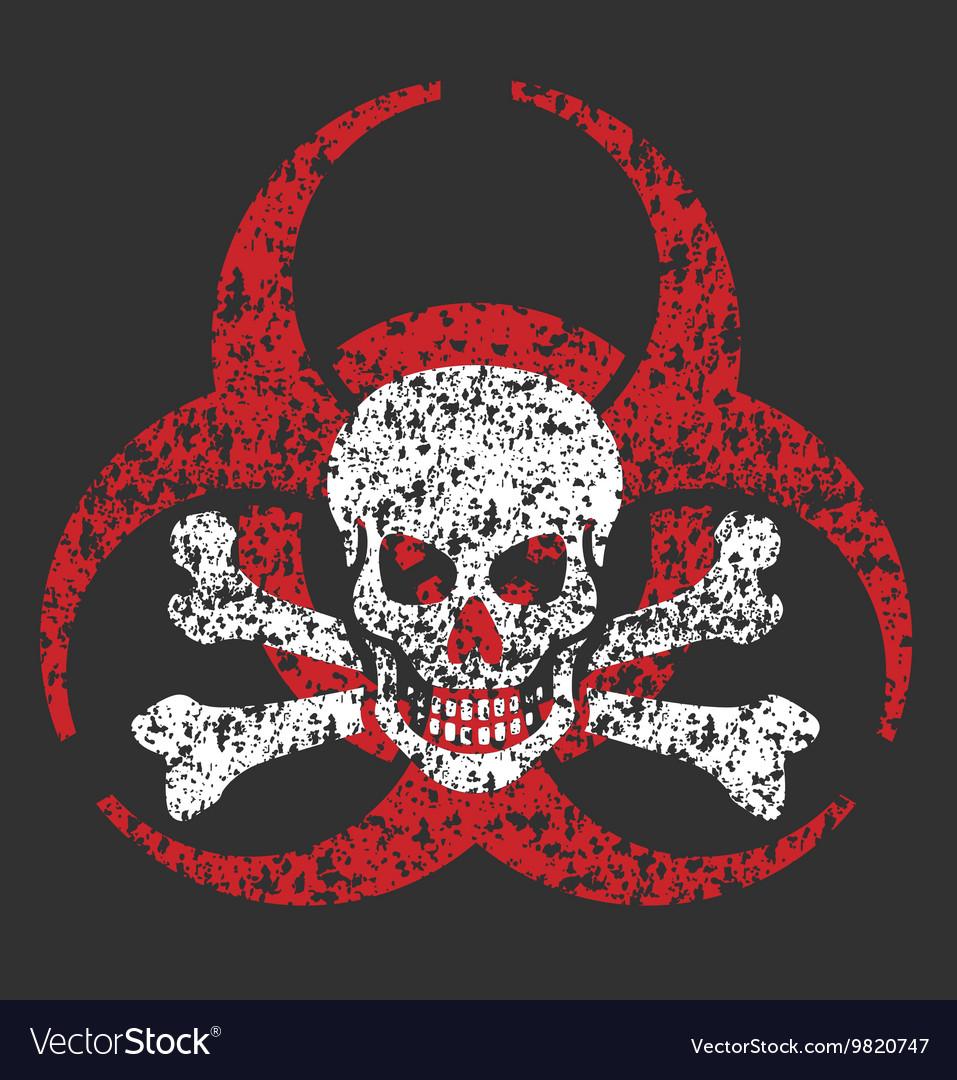 Biohazard skull symbol