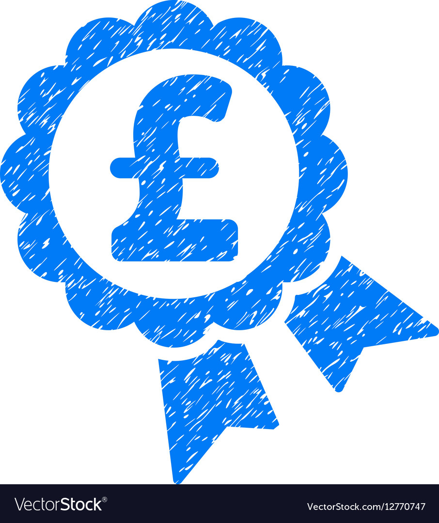 Featured Pound Price Label Grainy Texture Icon