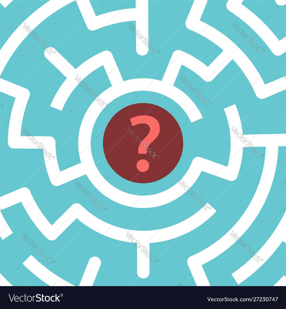 Question mark inside maze