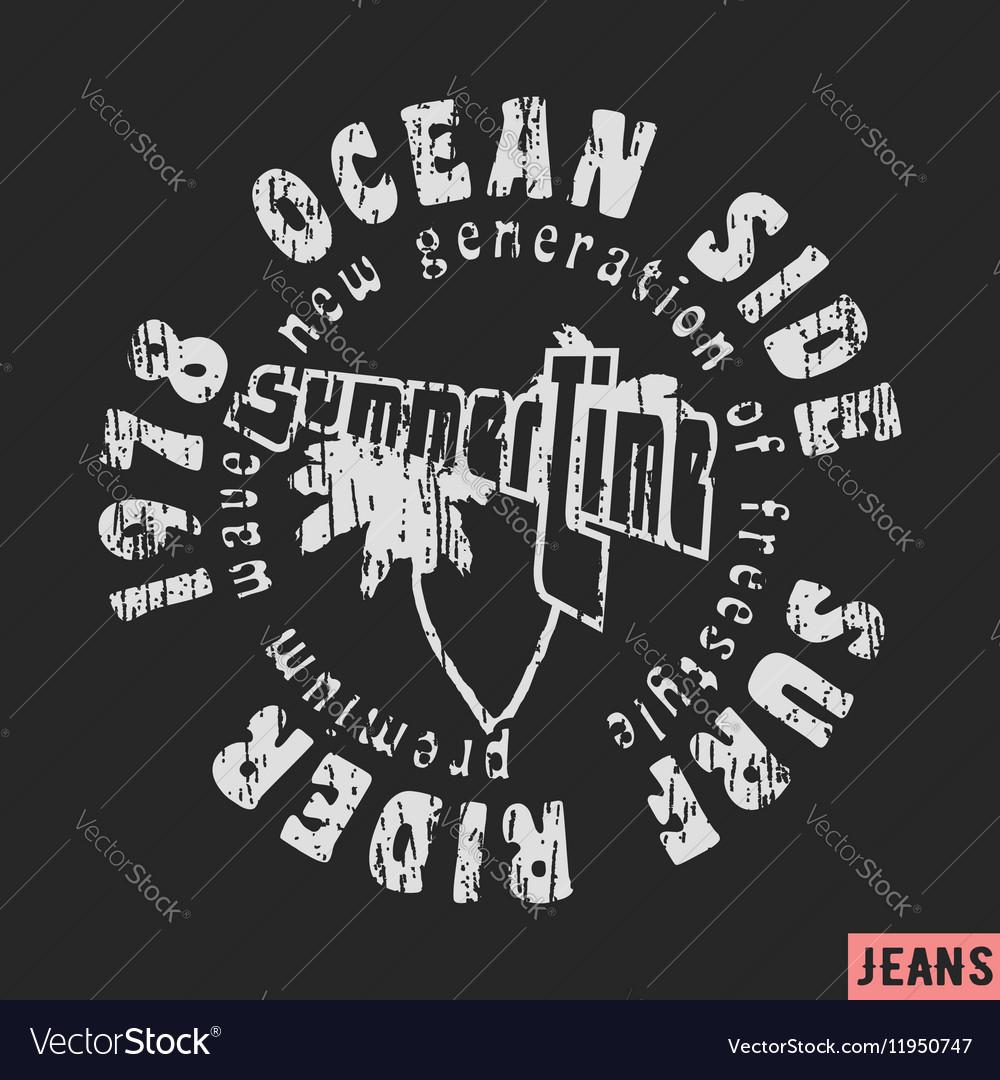 Surfing vintage stamp