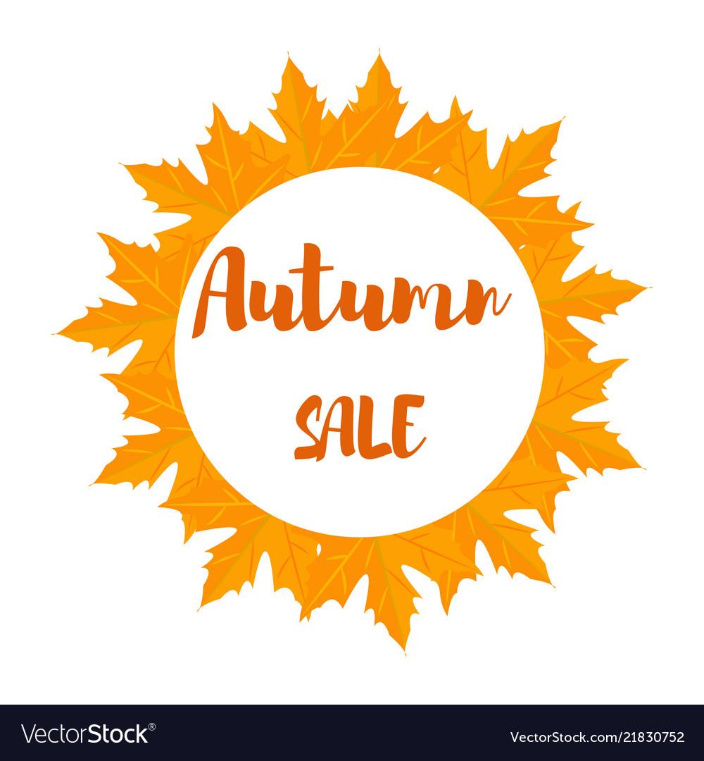Autumn foliage sale banner