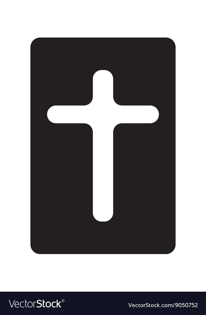 Bible and rounded cross