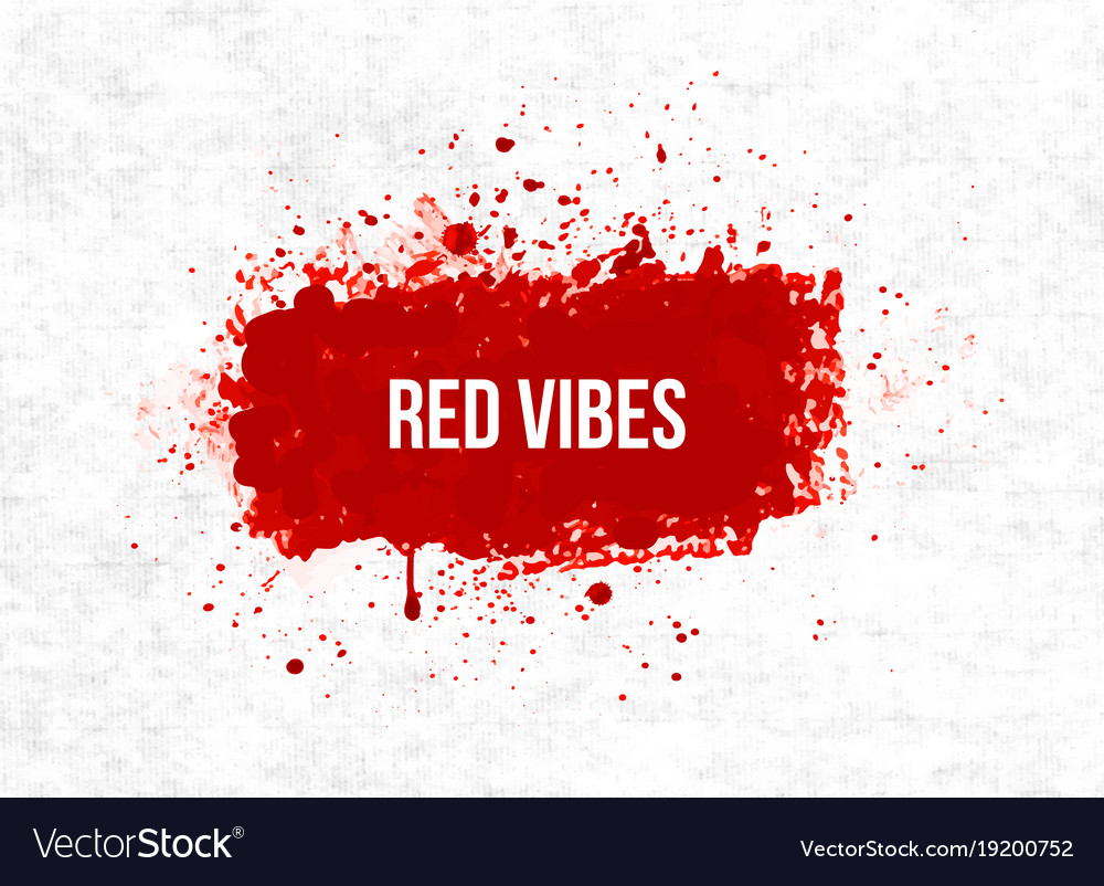 bright red blood grunge splashes on rice paper vector image