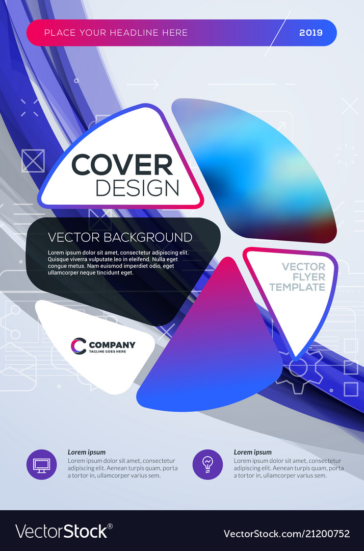 Business brochure cover design template abstract