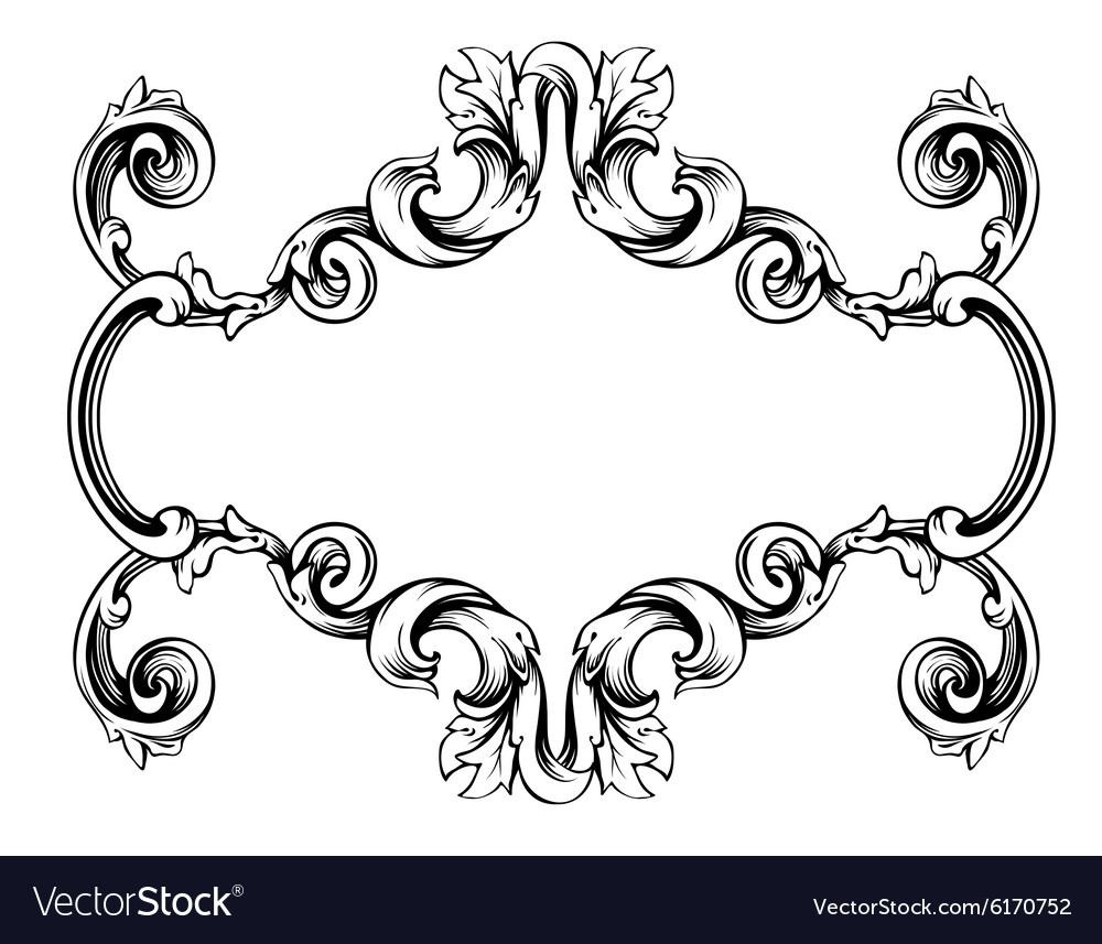 Floral label frame 1 Royalty Free Vector Image