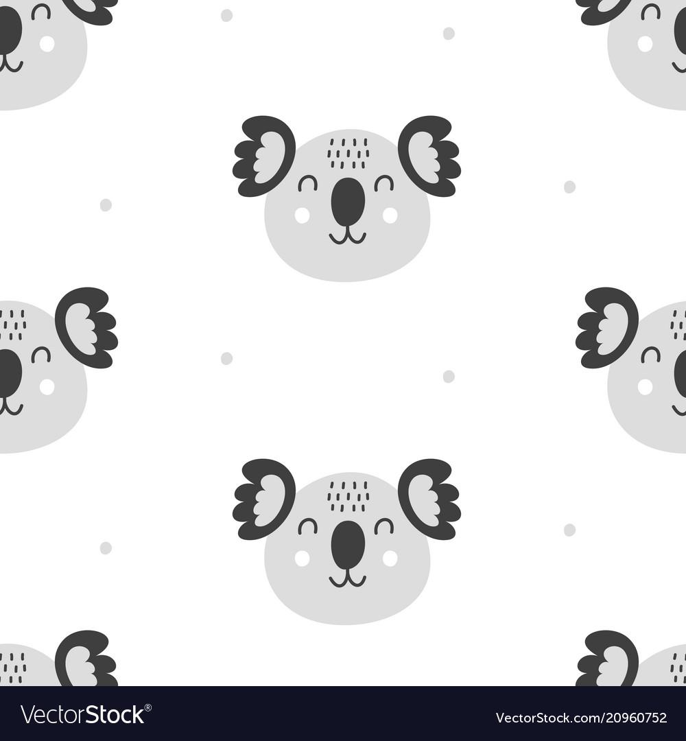 Nursery childish seamless pattern background