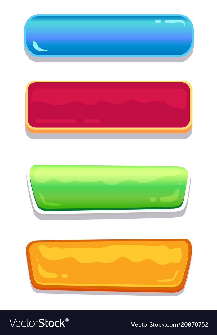Push-buttons of different colors and shapes set