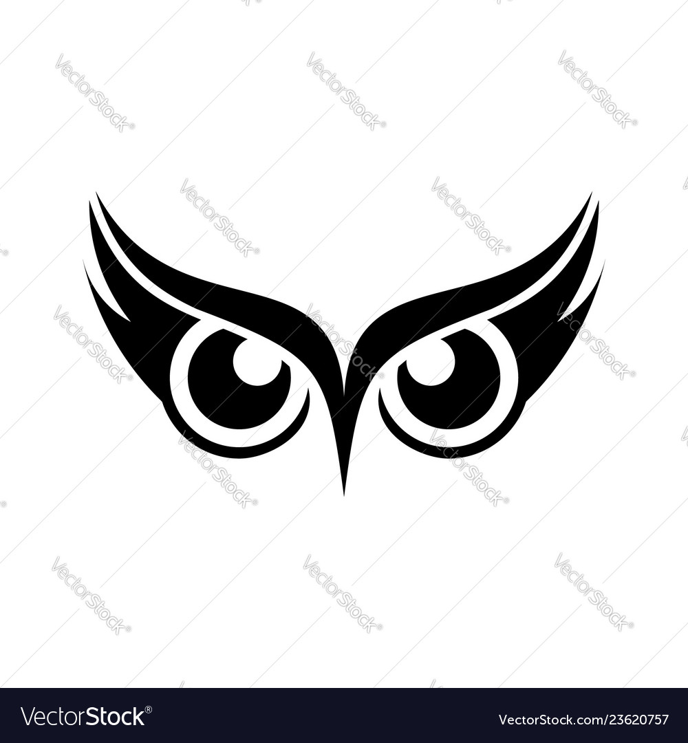 An owl design on white background bird logo