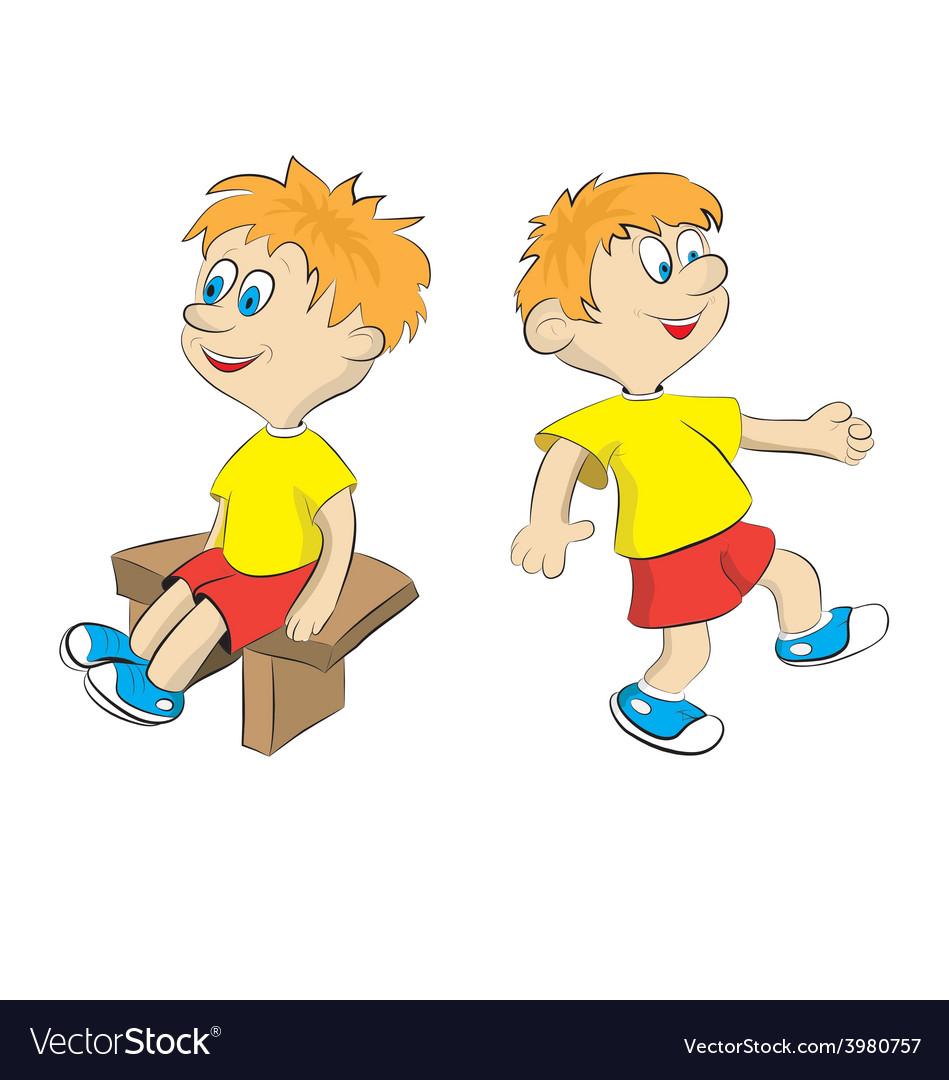 Cartoon Sport Boy