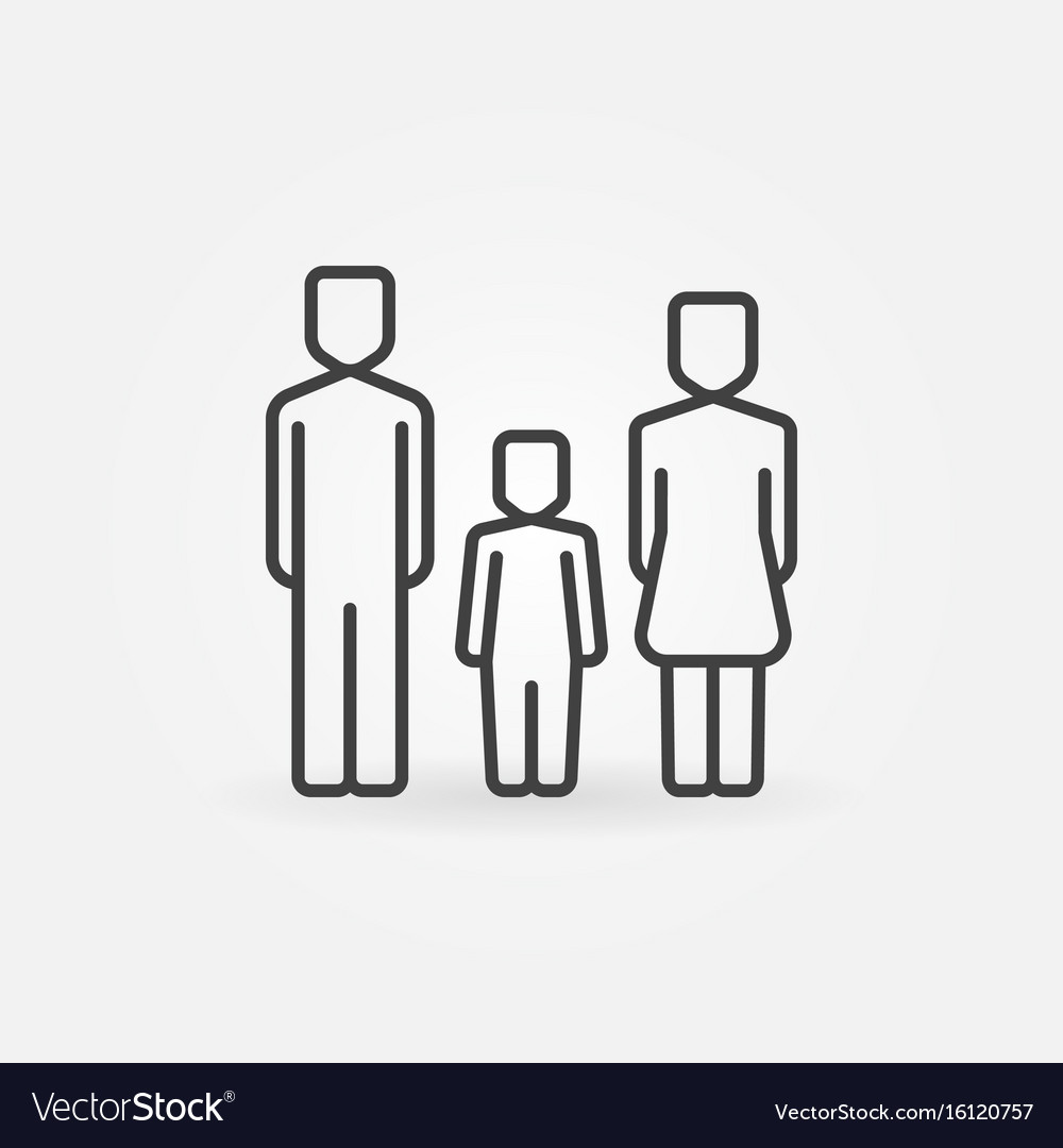 Family with one child icon