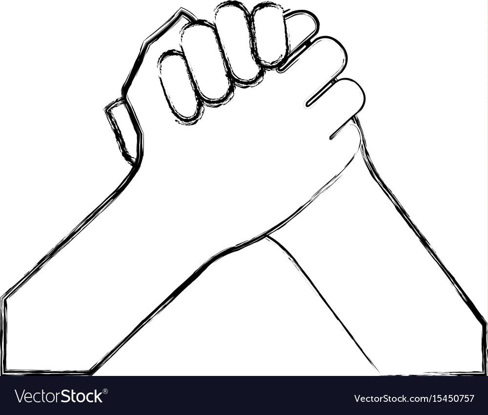 Hand shake isolated icon