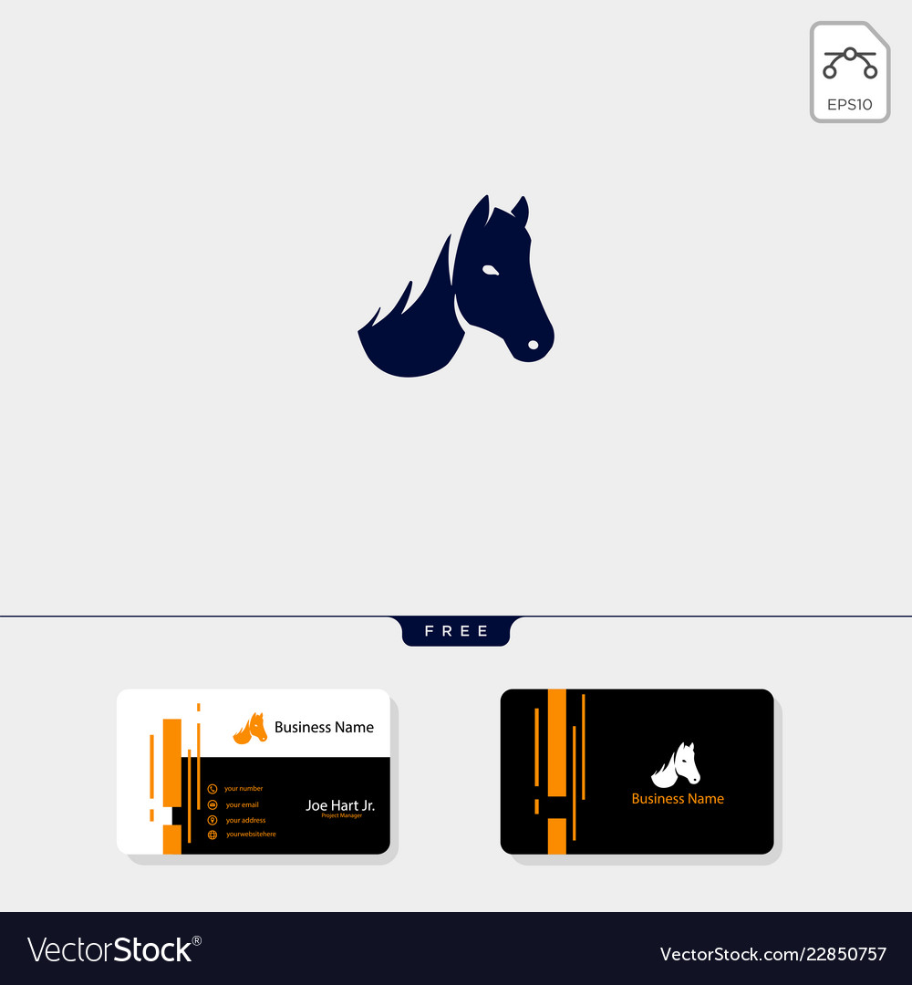 Head of horse logo template and logo inspiration