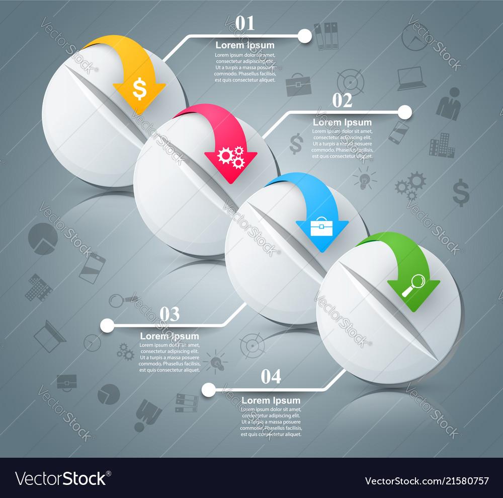 Medicine health business infographic pill icon
