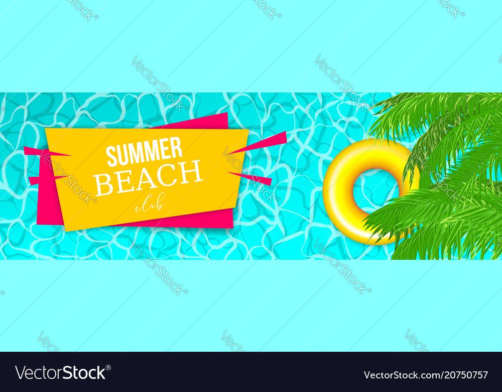 Summer water pool waves poster