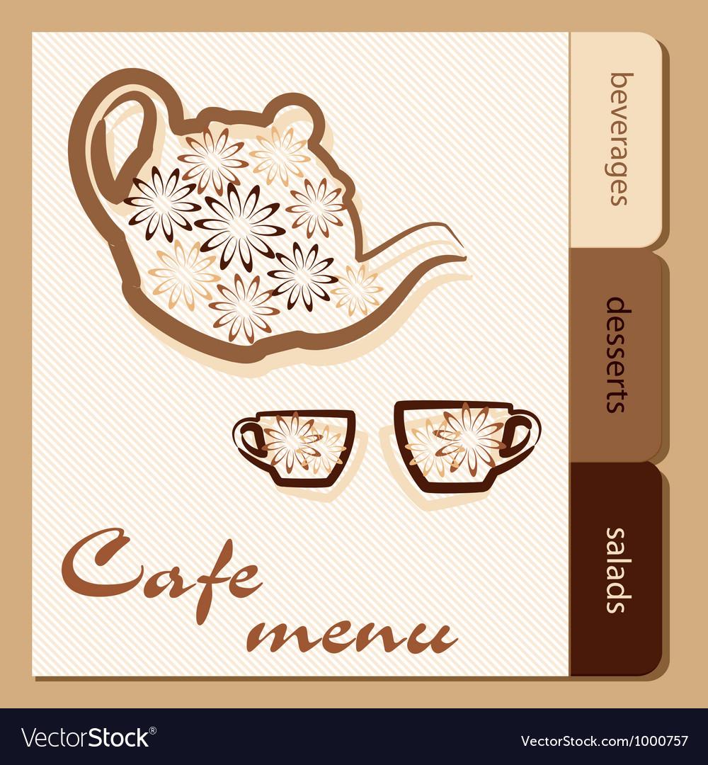 Template of a cafe menu