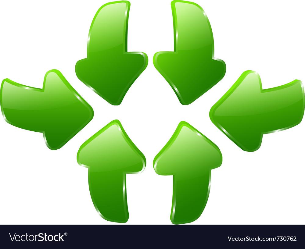 3d green arrows