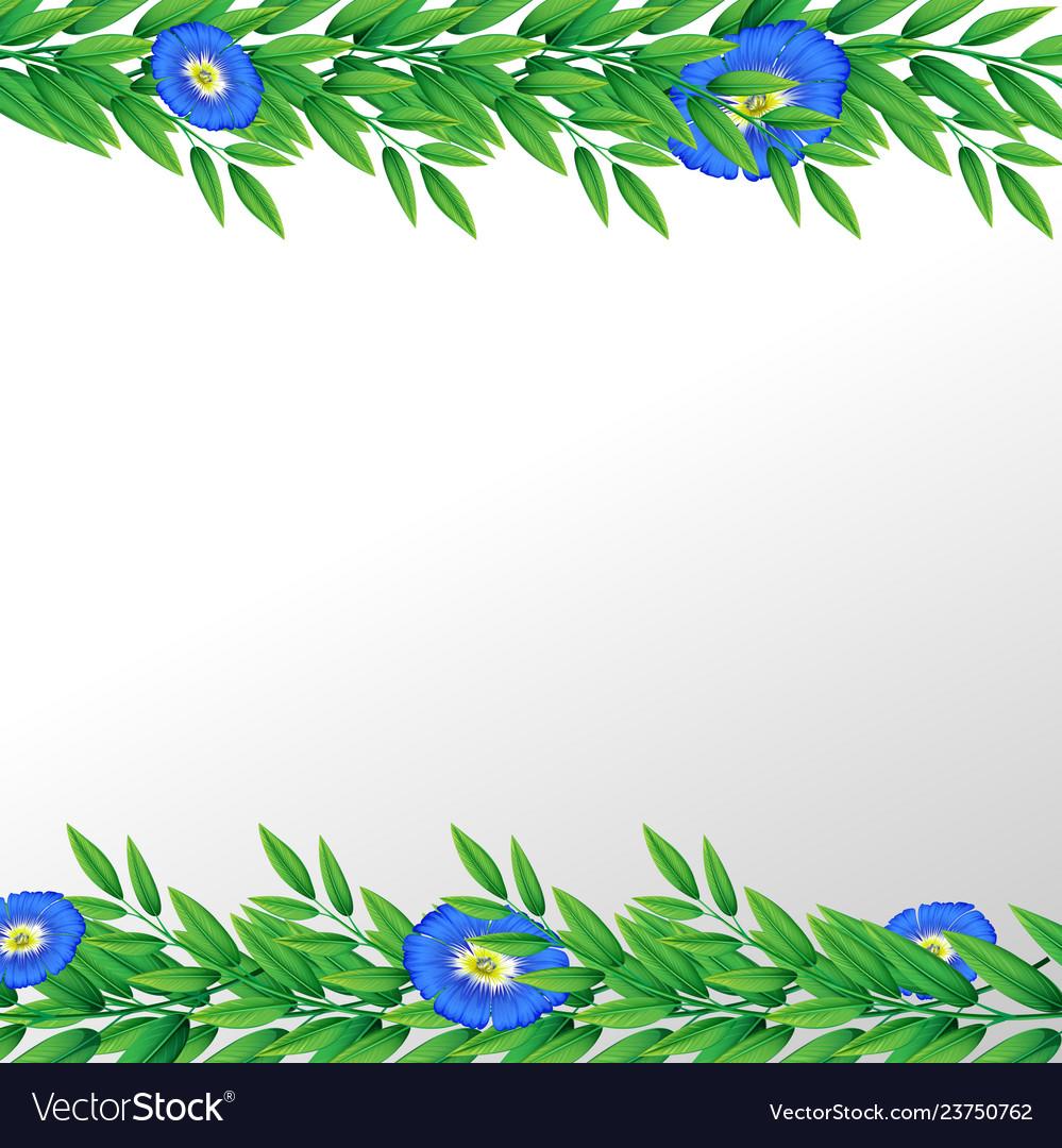 Blue flower nature border