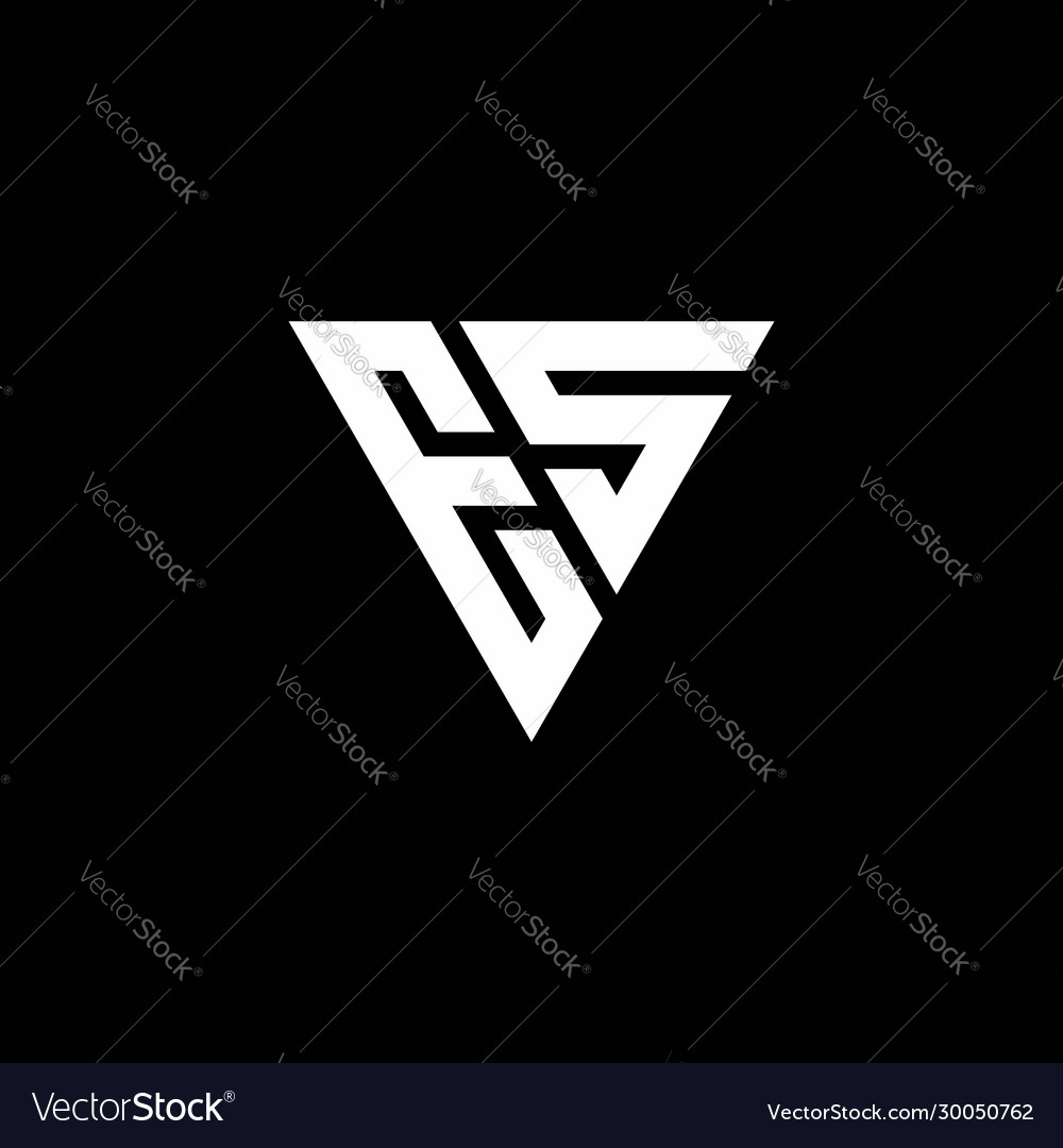 Es Logo Letter Monogram With Triangle Shape Vector Image