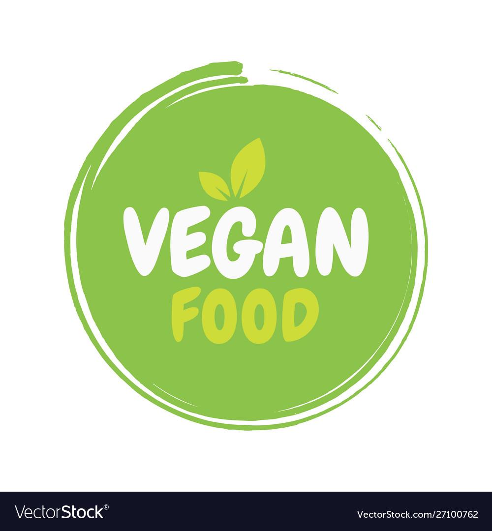 Fresh healthy organic vegan food badge