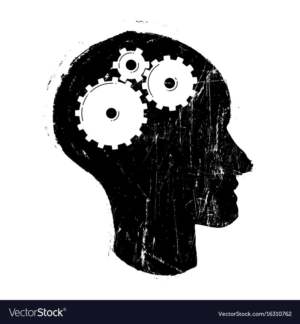 Grunge gear in head
