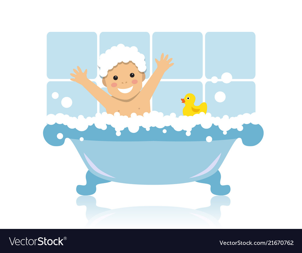 Boy Take Bath Drawing Vector Images 42