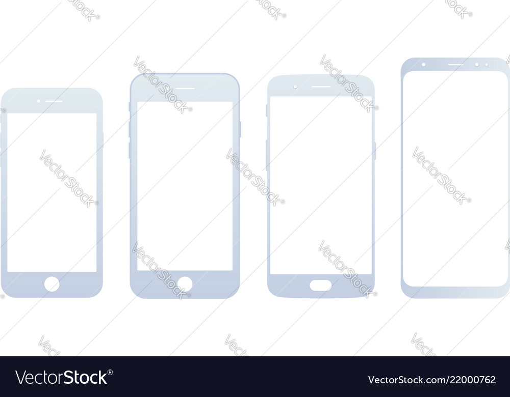 Mobile devices front view