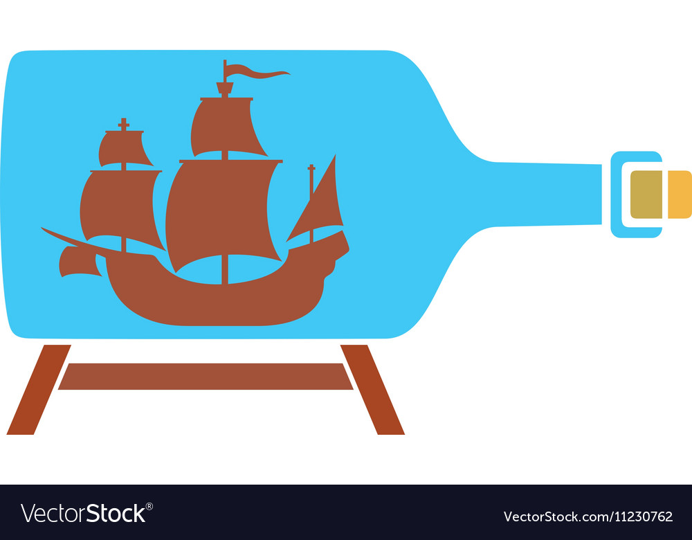 Ship in a Bottle Icon vector image