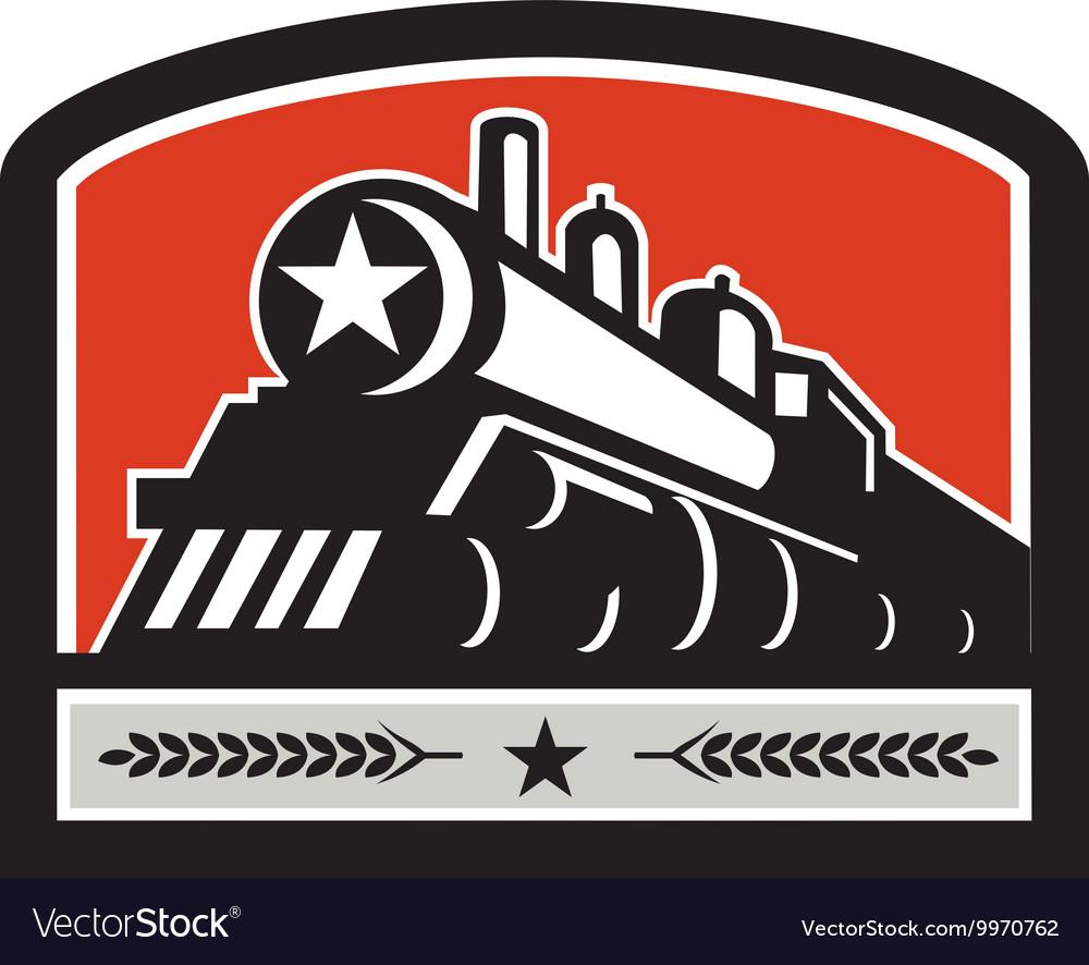 Steam Train Locomotive Star Crest Retro