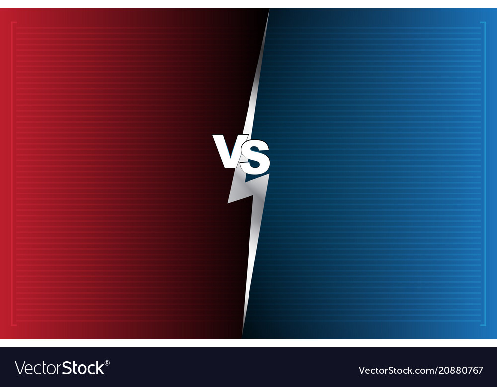abstract background versus screen red and blue vector image