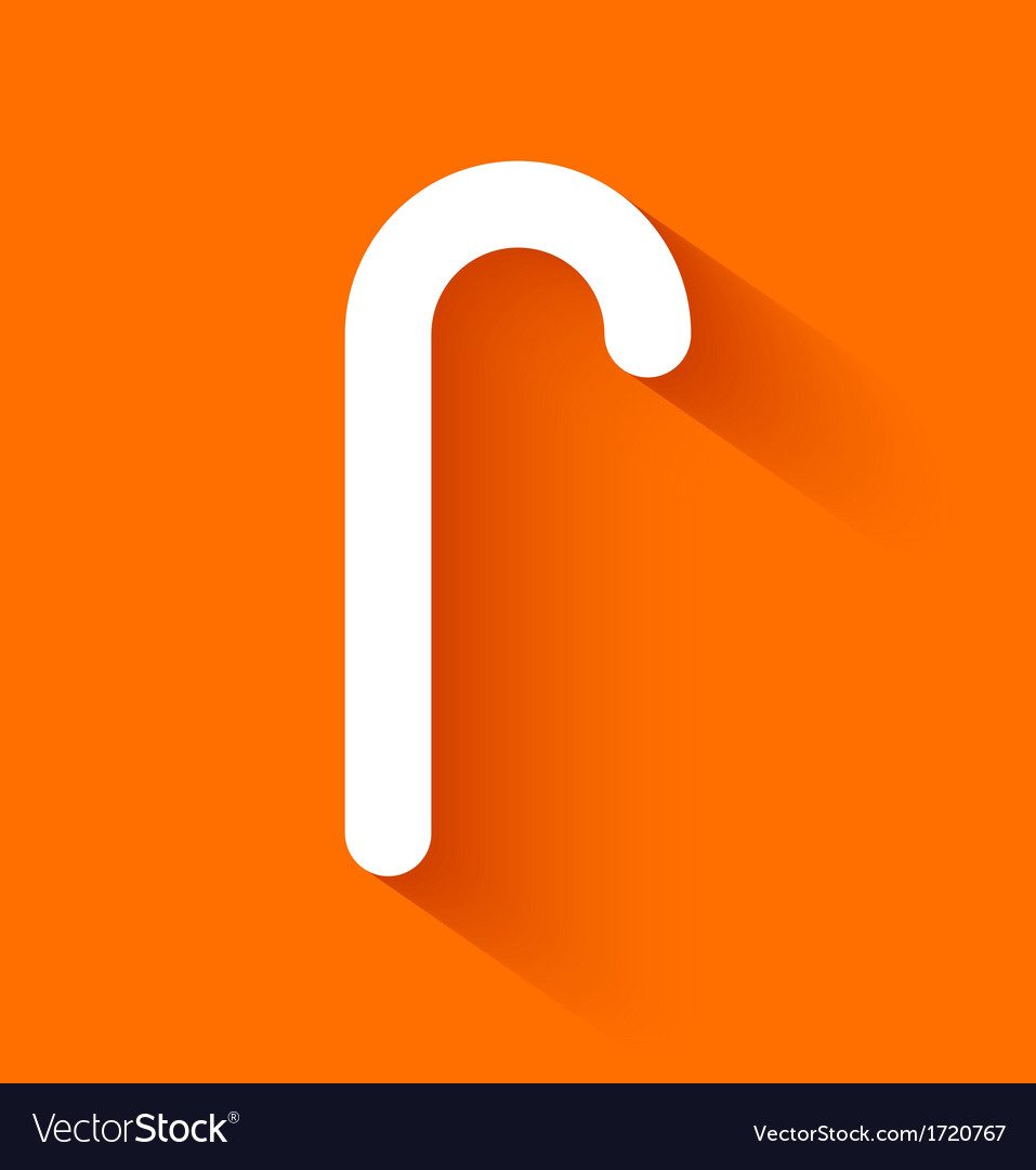 Abstract christmas candy cane on orange background