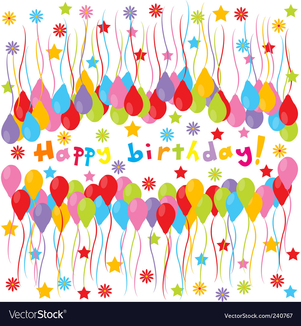 Birthday banner vector image