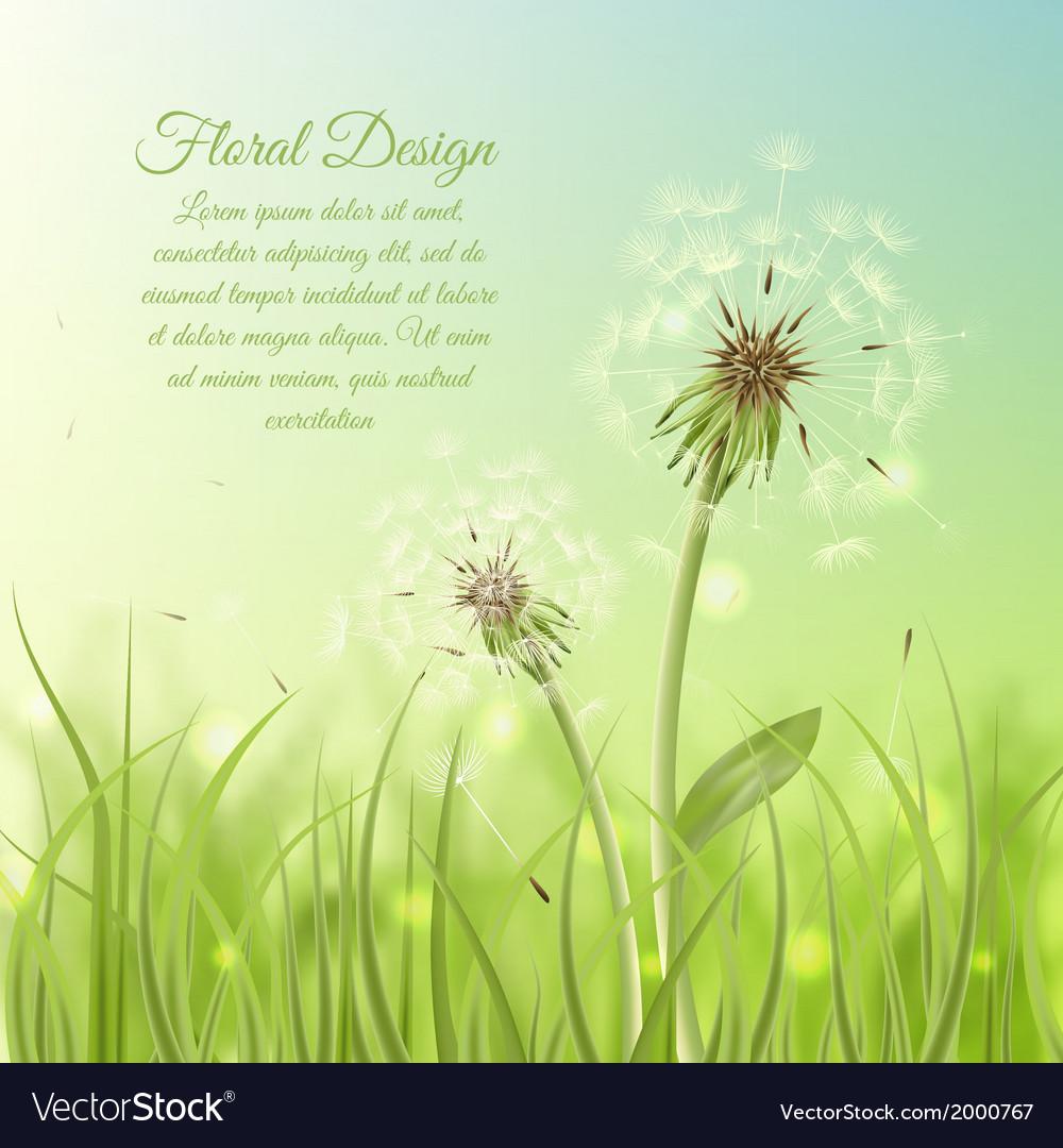 Floral design poster of dandelion
