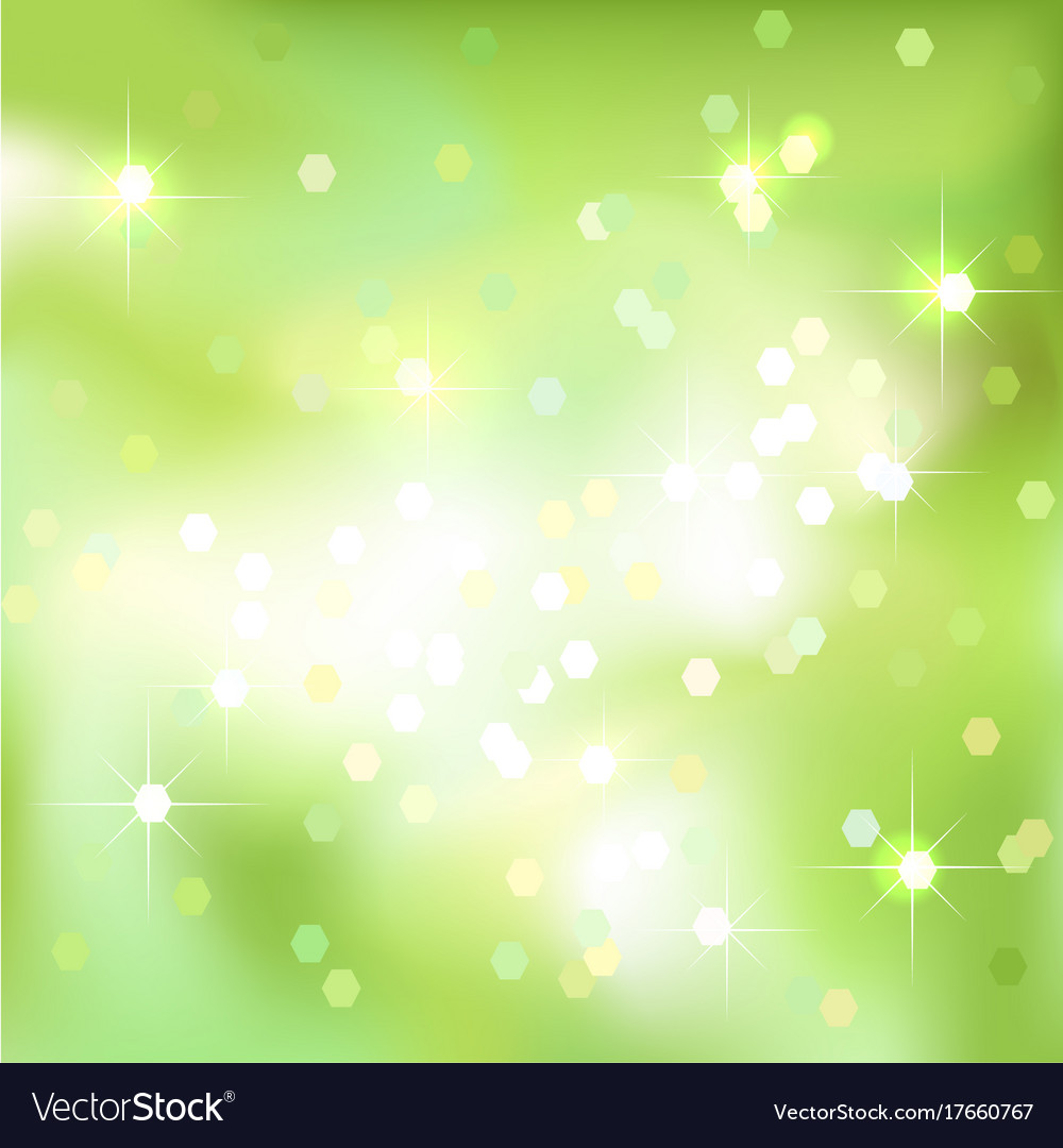 Green Abstract Background With Light Spots