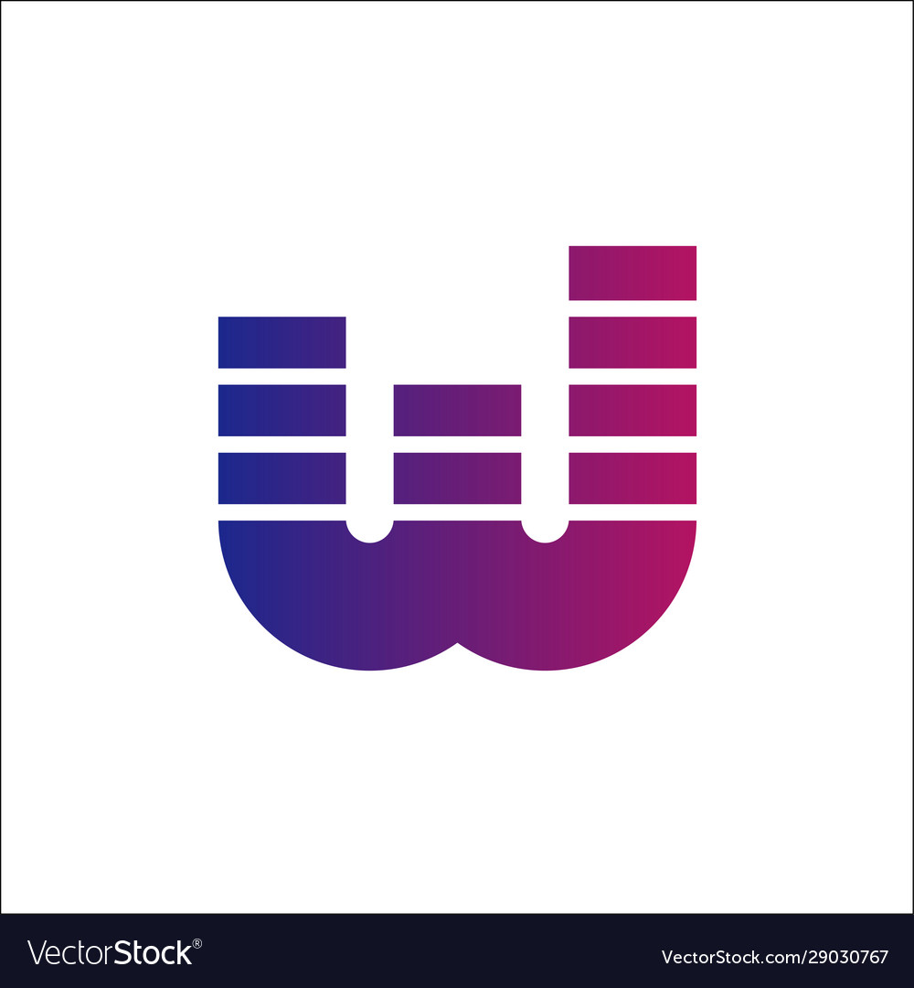 Letter w logo initials w logo