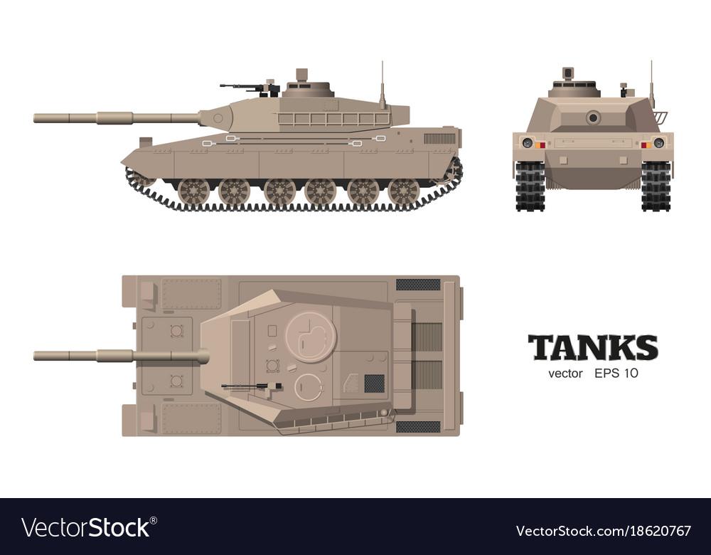Realistic tank blueprint armored car