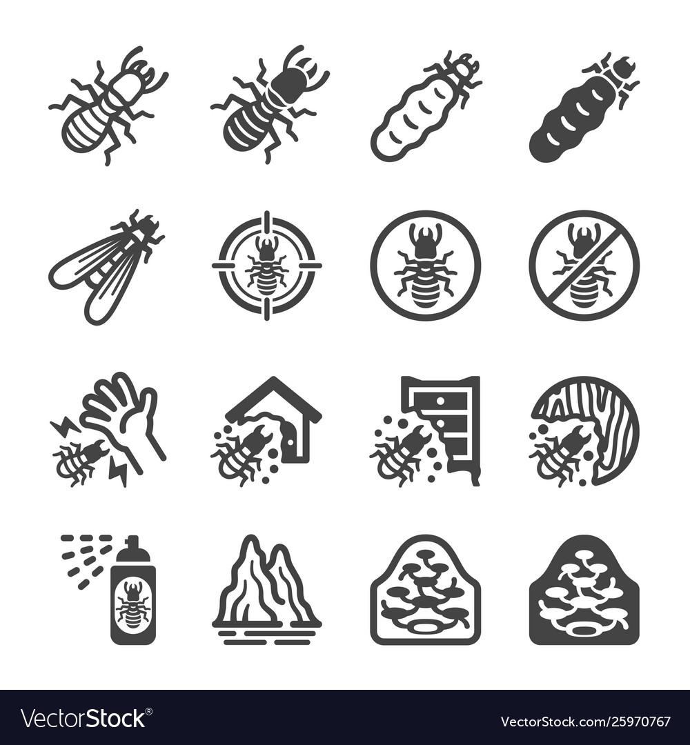 Termite icon set
