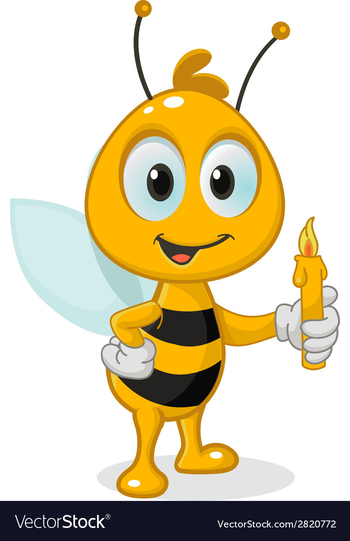 Bee with a candle