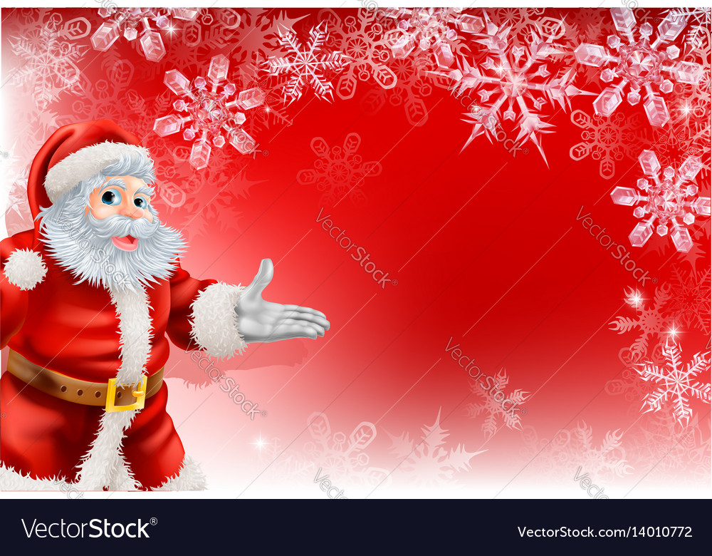 Red santa christmas snowflake background