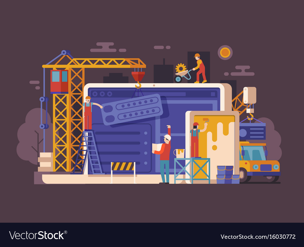 Site under construction concept vector image
