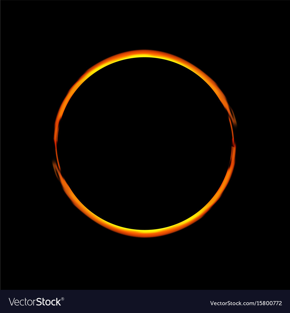 Solar eclipse abstract ring vector image