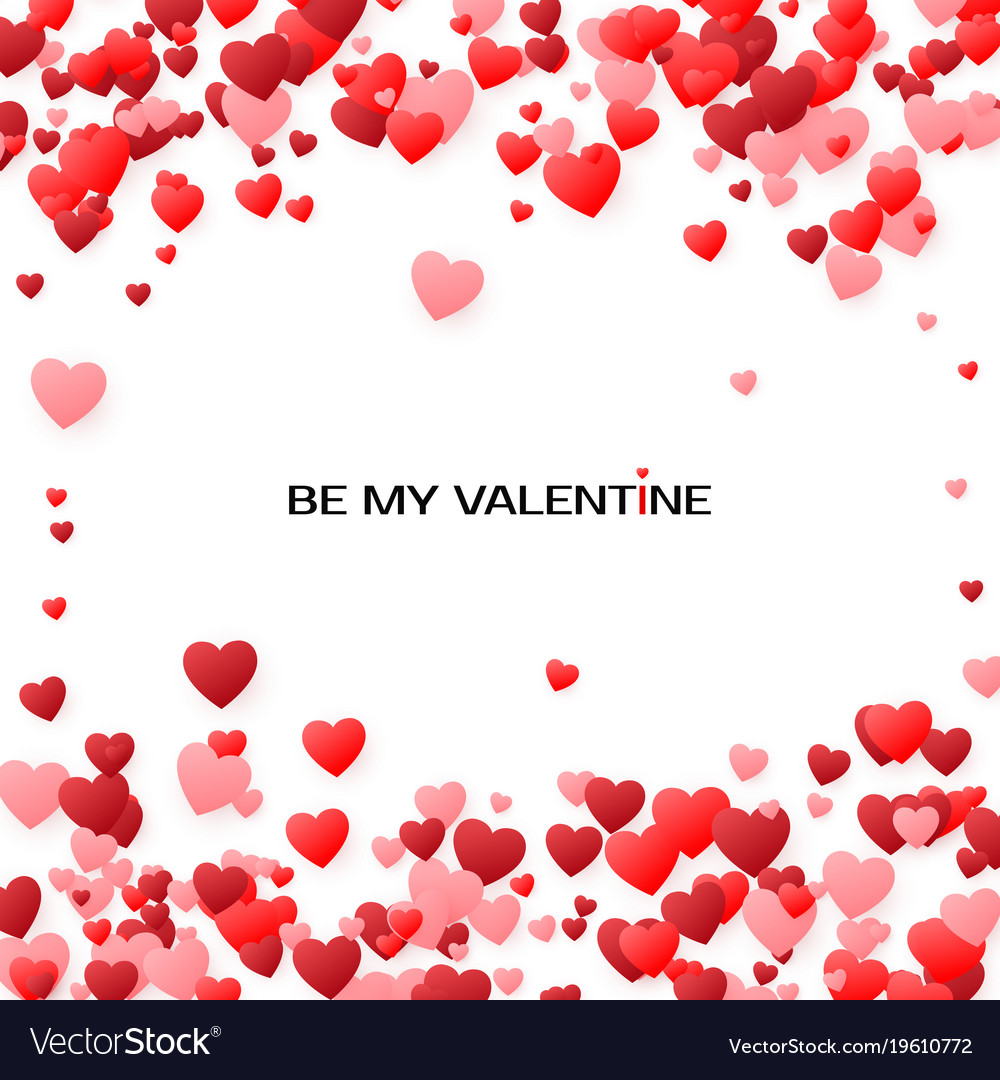 Valentines Greeting Card Cover With Hearts By My Vector Image