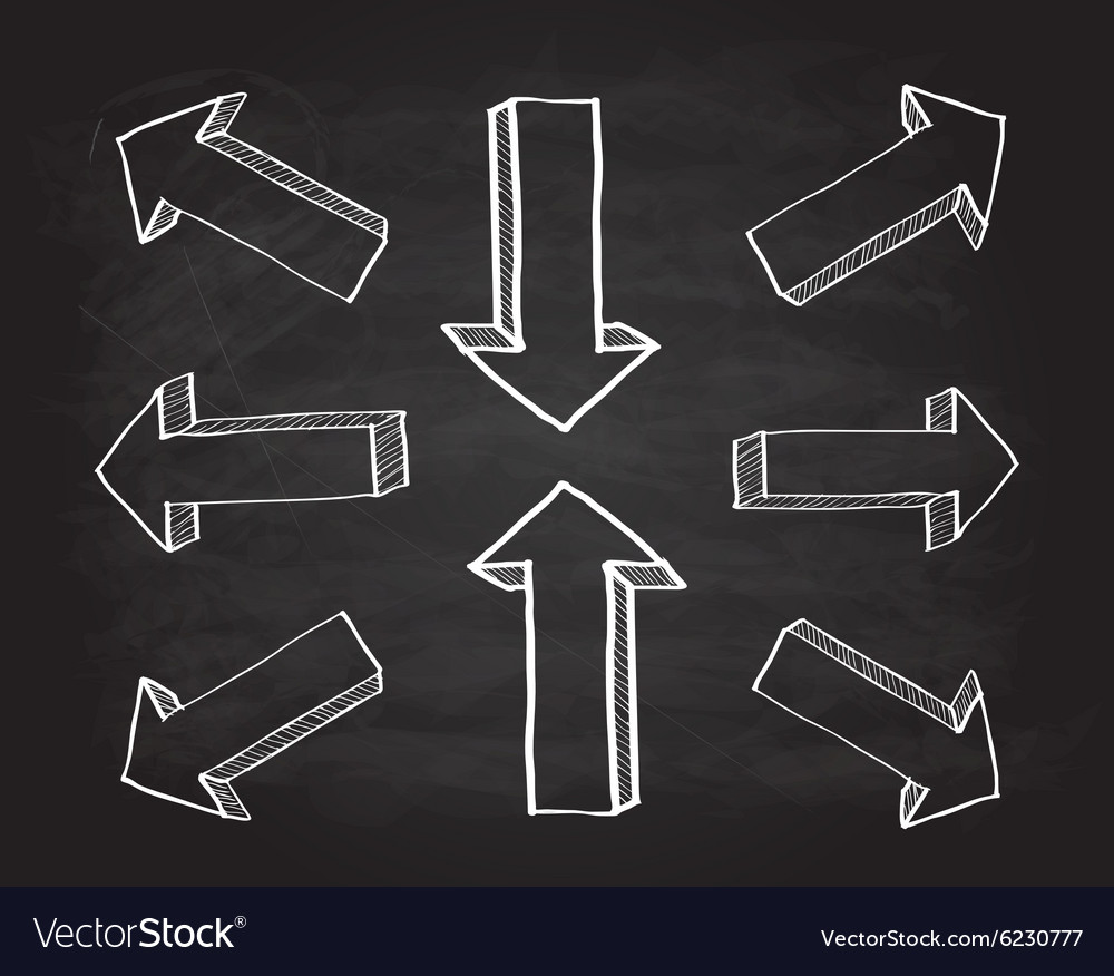 3d scribble arrows