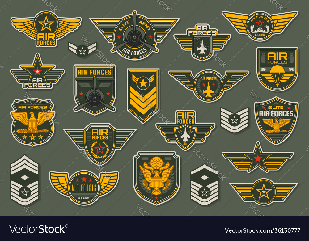 Army air forces airborne units badges and chevron
